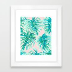 Paradise Palms Blush Framed Art Print