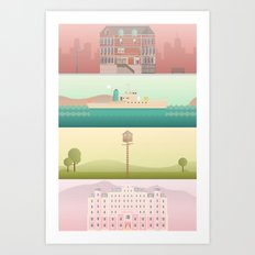 A Wes Anderson Collectio… Art Print