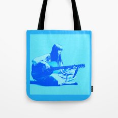 Blue Songbird Tote Bag