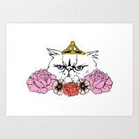 Queen Cat Art Print