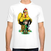 The Legend of Ernie (light background) Mens Fitted Tee White SMALL