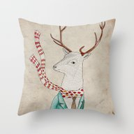Throw Pillow featuring Dear Deer. by Belén Segarra