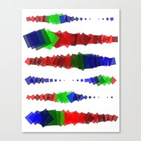 Screen Squares Canvas Print