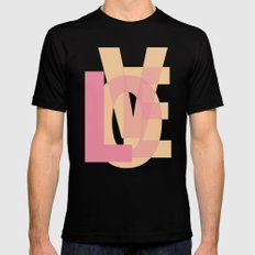 L-OVE Black Mens Fitted Tee SMALL