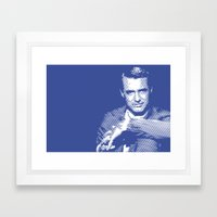Cary Grant Blue Framed Art Print