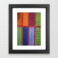 Large Rectangle Fields B… Framed Art Print