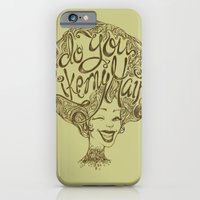iPhone & iPod Case featuring Do you like my hair? by LuisaPizza