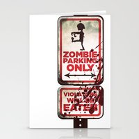 Zombie Parking only Stationery Cards