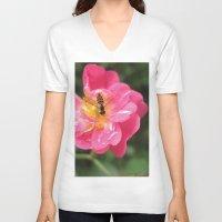 Flower Bee Unisex V-Neck