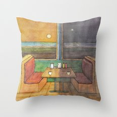 Diner Days, Diner Nights Throw Pillow