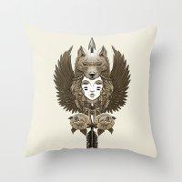 Native Girl (light Versi… Throw Pillow