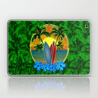 Sunset Surfboards And Pa… Laptop & iPad Skin
