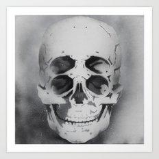 the 4i skull stencil art 1 Art Print
