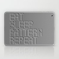 Eat Sleep Pattern Repeat Laptop & iPad Skin