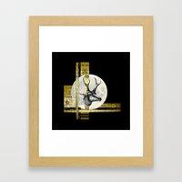 Golden. A. Framed Art Print