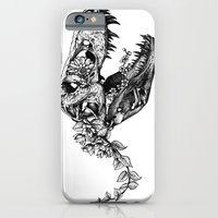 iPhone Cases featuring Jurassic Bloom - The Rex.  by Sinpiggyhead