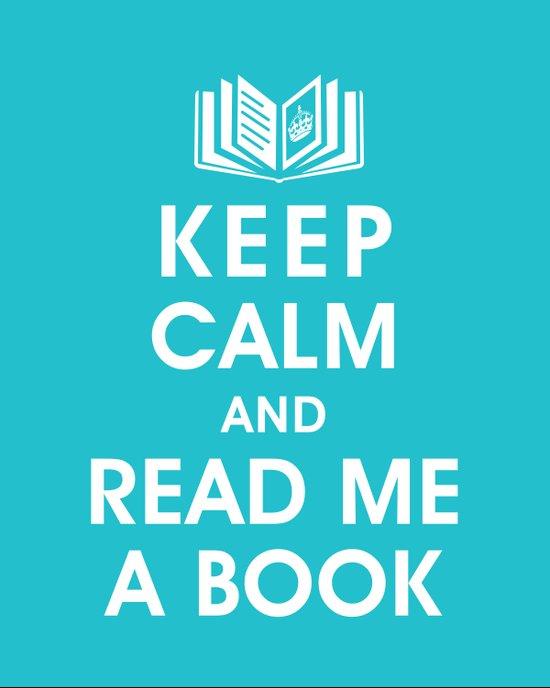 Keep Calm and Read Me A Book Canvas Print