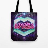 Spires 80's Neon  Tote Bag