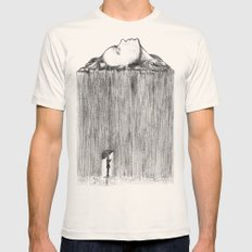 rain Mens Fitted Tee Natural SMALL