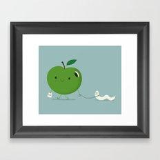 Apple's pet Framed Art Print