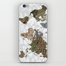 CAMO WORLD ATLAS MAP (WHITE) iPhone & iPod Skin