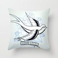Dirty - Homesick Throw Pillow
