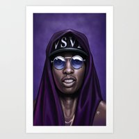 Purple Swag Art Print