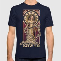 Shieldmaiden of Rohan Nouveau Mens Fitted Tee Navy SMALL