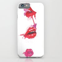 lips iPhone & iPod Cases featuring lips by jgart