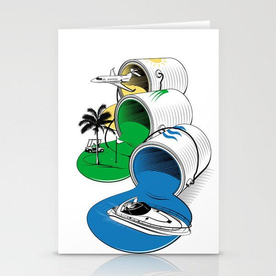 Luxury Paints Stationery Card
