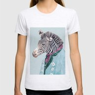 Zebra Womens Fitted Tee Ash Grey SMALL
