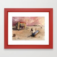 The Lone Saloon Framed Art Print