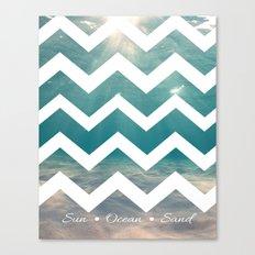 Summer Underwater Canvas Print