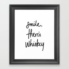 Smile - Whiskey Framed Art Print