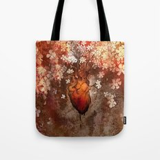 This Bleeding Blossoming Heart Tote Bag