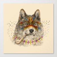 Cherokee Wolf Canvas Print