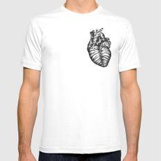 Heart gone wild White SMALL Mens Fitted Tee