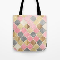 Silver Grey, Soft Pink, … Tote Bag