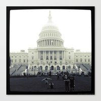 Canvas Print featuring Our Nation's Capitol by Christine Workman