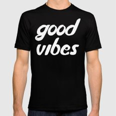 good vibes Mens Fitted Tee SMALL Black
