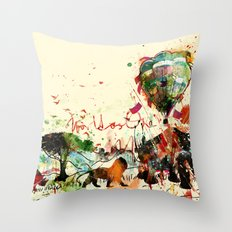 World as One : Human Kind Throw Pillow