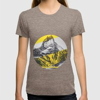 brocken mountain Womens Fitted Tee Tri-Coffee SMALL