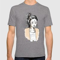 Frenchy Girl Mens Fitted Tee Tri-Grey SMALL