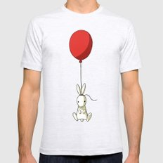 Balloon Bunny Mens Fitted Tee Ash Grey SMALL