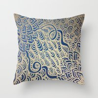 Throw Pillow featuring Dual Blooms by Renee Trudell