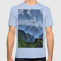 Mountain Peaks in Austria Mens Fitted Tee Athletic Blue SMALL