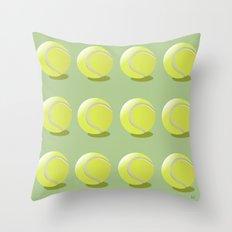 Tennis Ball Pattern Throw Pillow