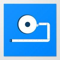 Measuring Tape Canvas Print