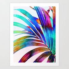 Multicolor Palm Leaf Art Print