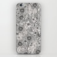 pencil flowers iPhone & iPod Skin